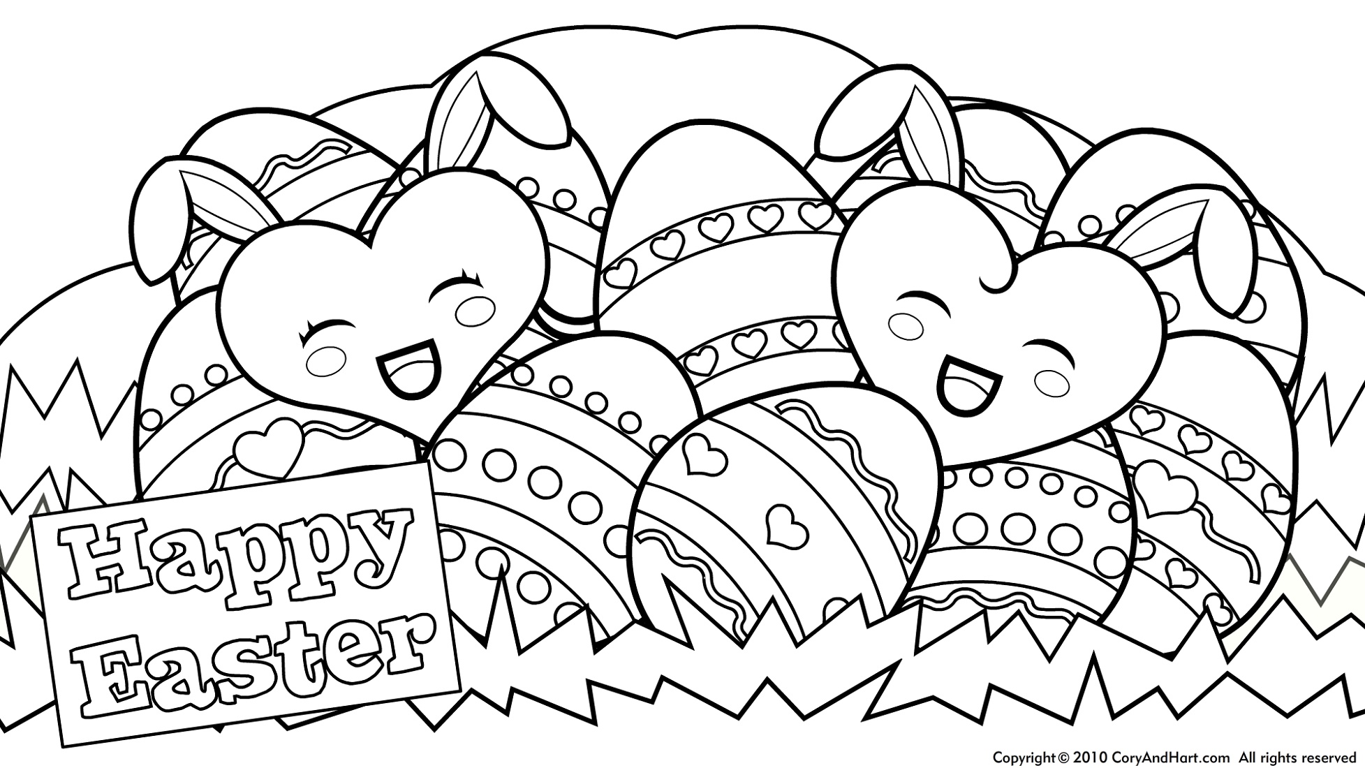 Easter Coloring Pages Happy Easter