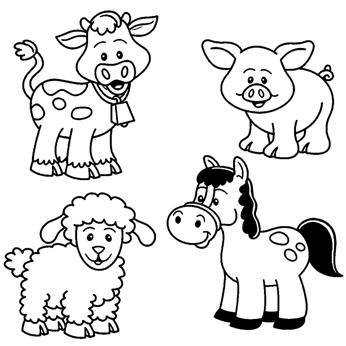 Farm Animal Coloring