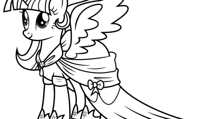 My Little Pony - Princess Twilight Sparkle Coloring Page
