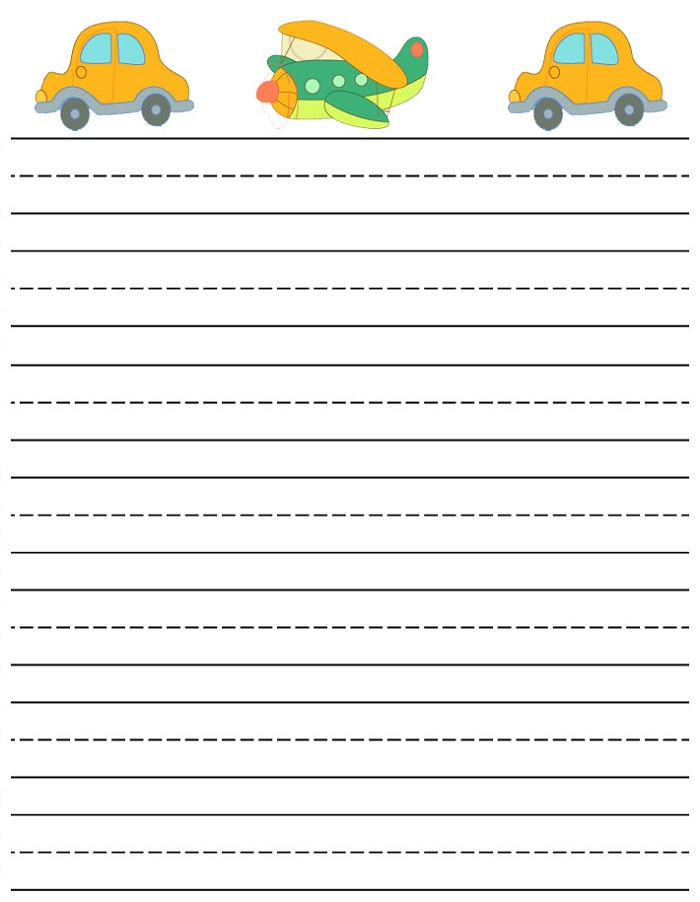 Free printable Lined Writing Paper for kids Over 1500 ELA worksheet lesson activities For class or home use Click to get started