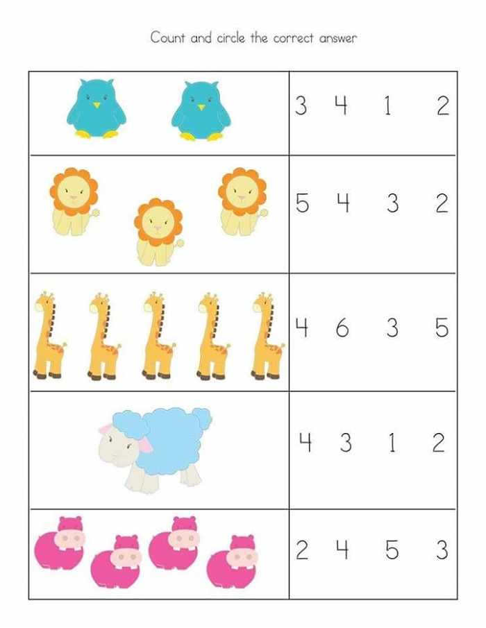 Preschool Math Worksheets Basic