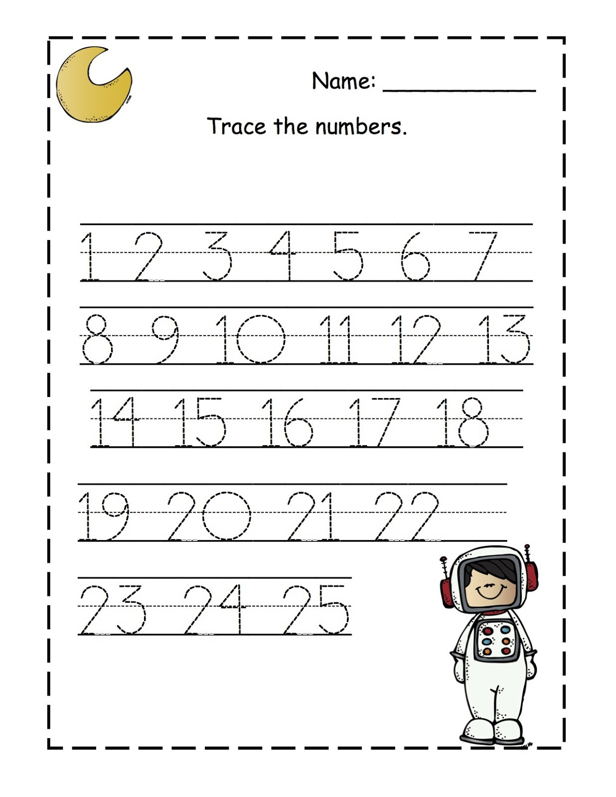 Preschool Printables Number