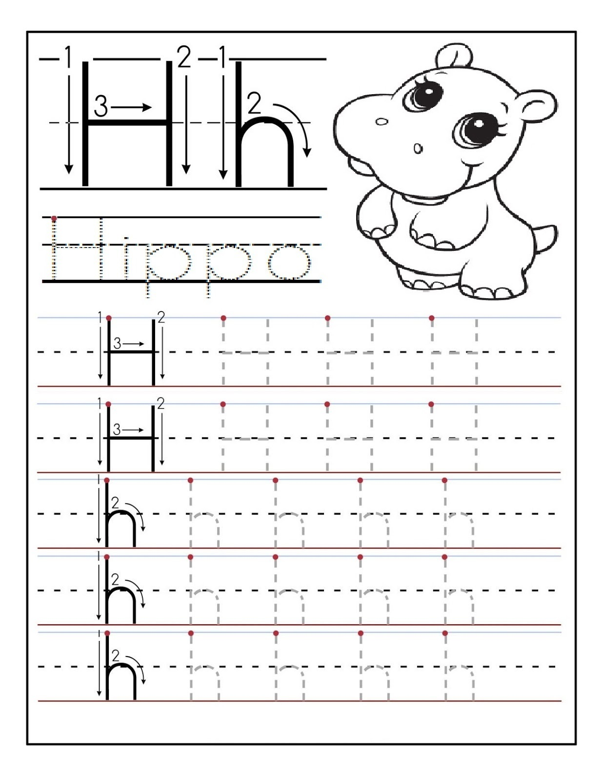 Preschool Writing Worksheets Alphabet