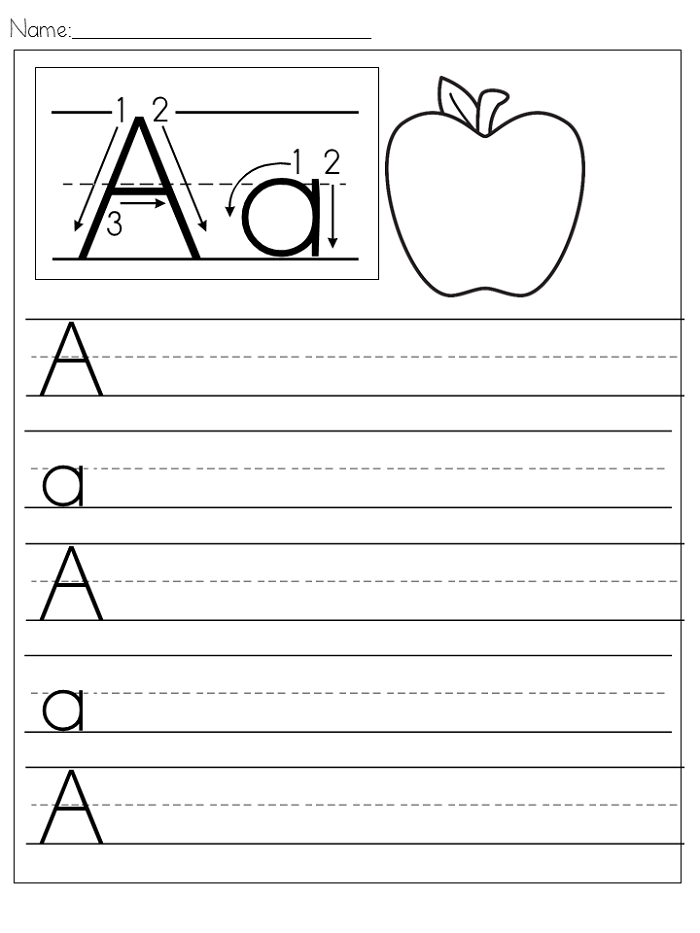 Preschool Writing Worksheets Free