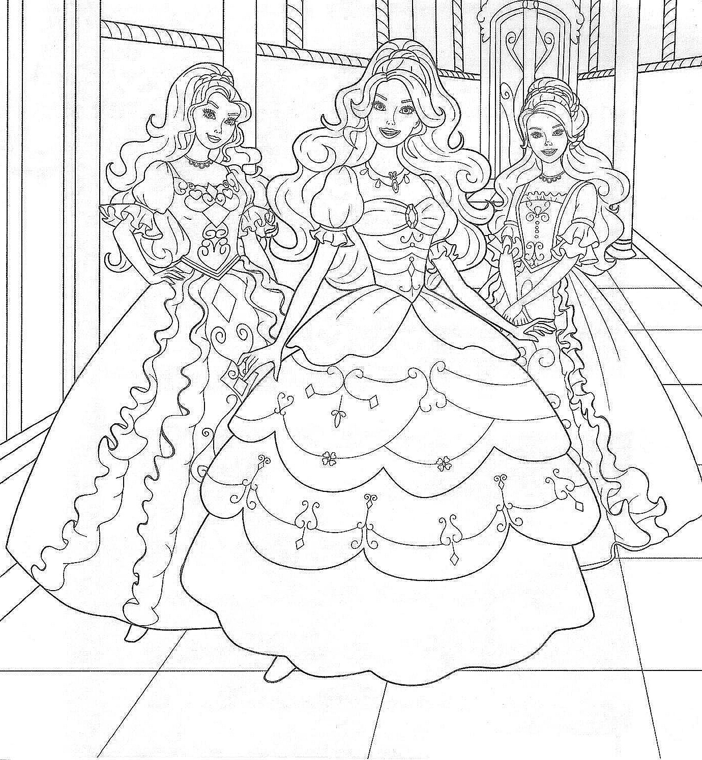 Princess Coloring Pages Barbie