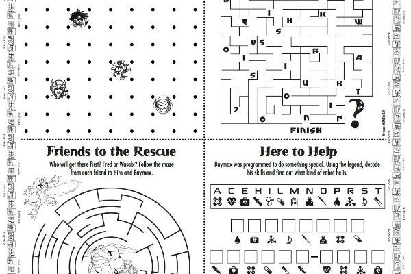 Printable Activity Sheets for Kids Puzzle
