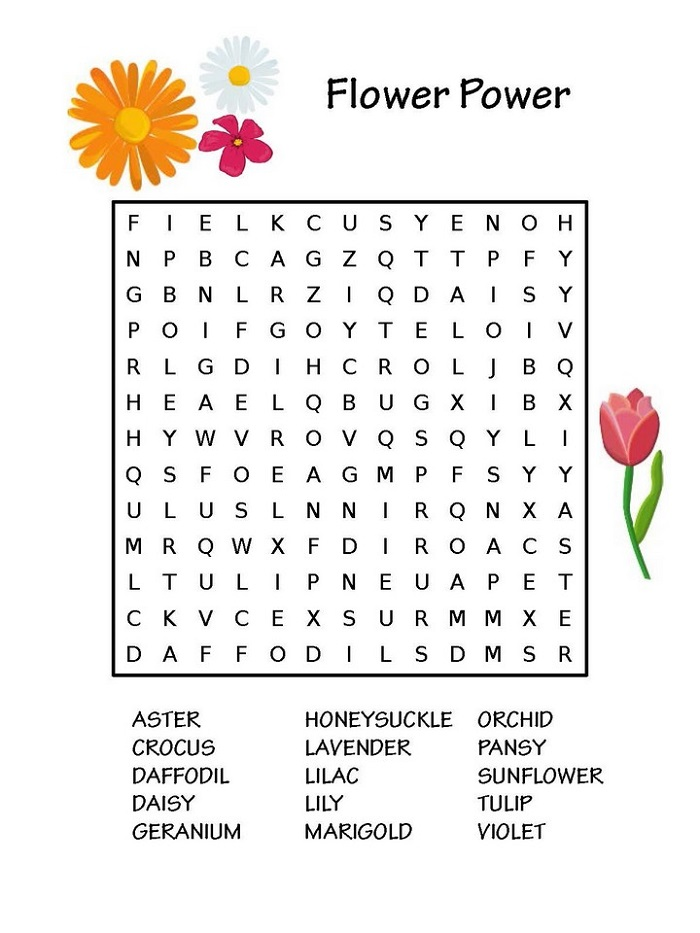 Printable Puzzles for Kids Flowers