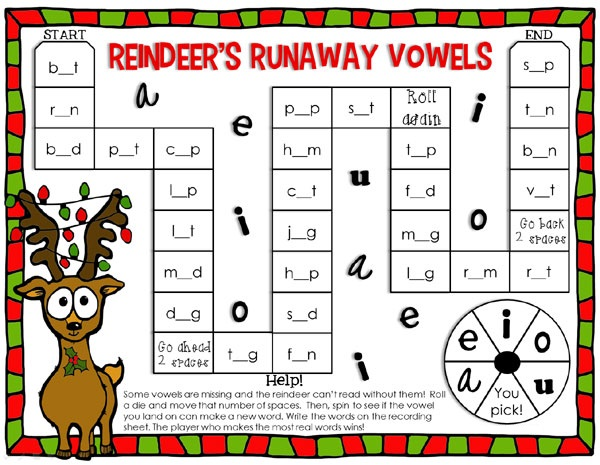 Printable Reading Games Kids