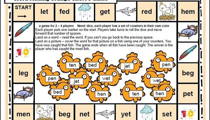 Printable Reading Games Toddlers