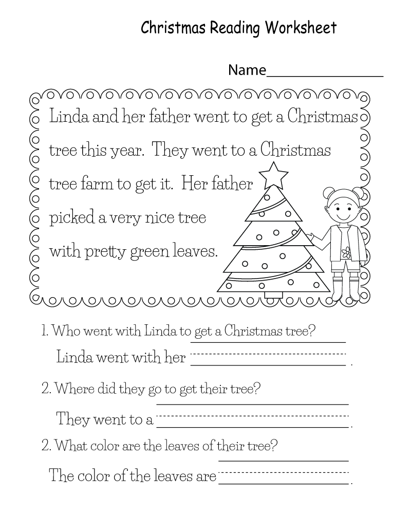 Printable Reading Worksheets Kids