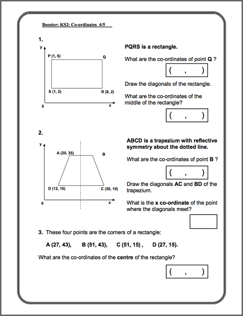 Printables Maths Worksheets Ks2 Shape