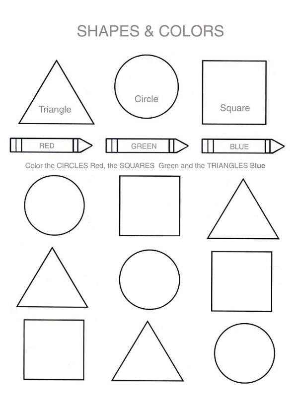 Printing Activities for Preschoolers Shape