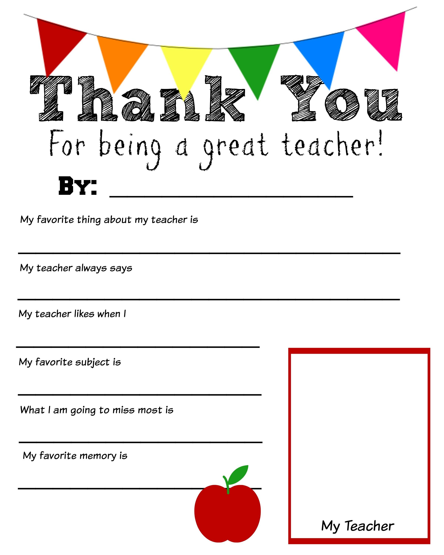 Teacher Printables Free