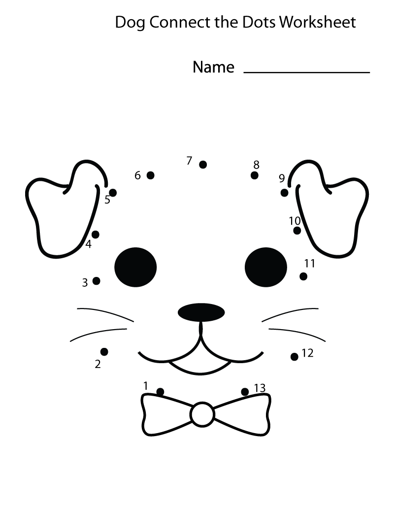 Toddler Activity Sheets Dog