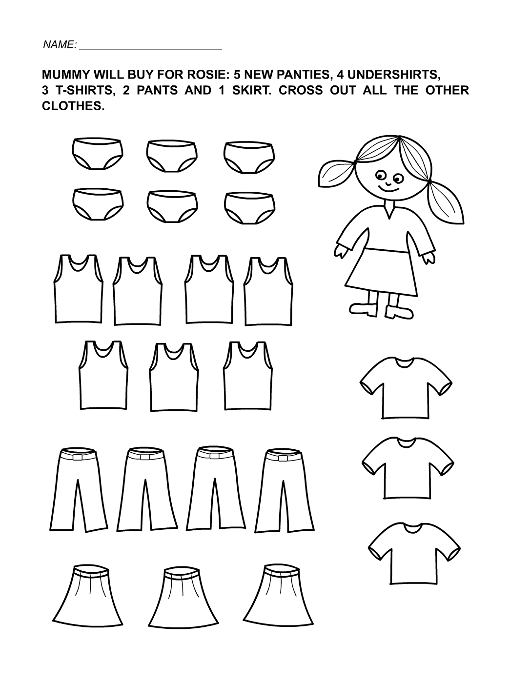 Toddler Activity Sheets Girl