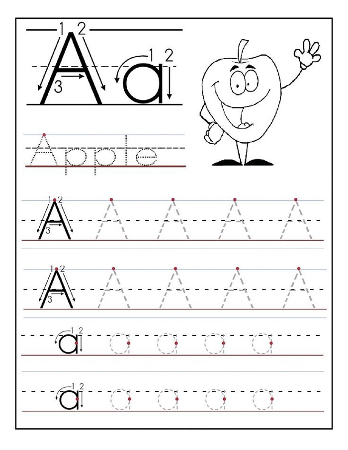Tracing Activities for Toddlers Apple