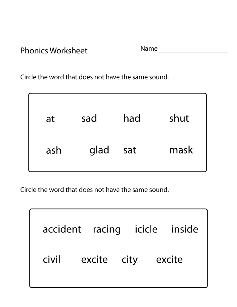 1st Grade Worksheets Phonics
