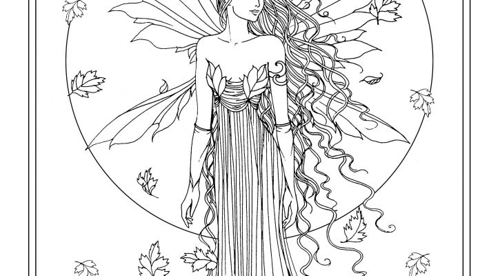 Adult Coloring Books Fairy