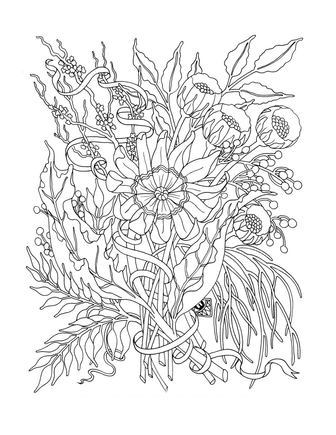 Adult Coloring Books Floral
