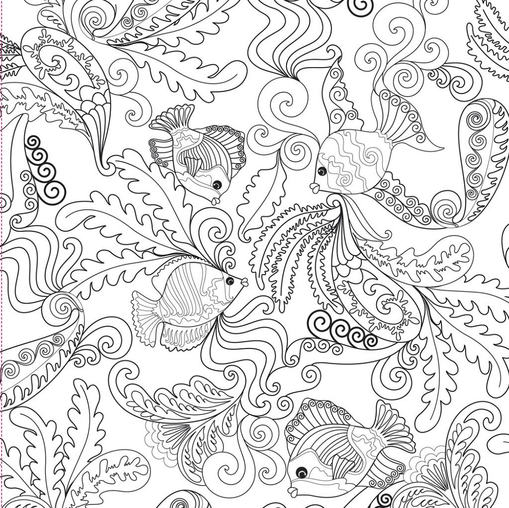 Adult Coloring Books Under The Sea