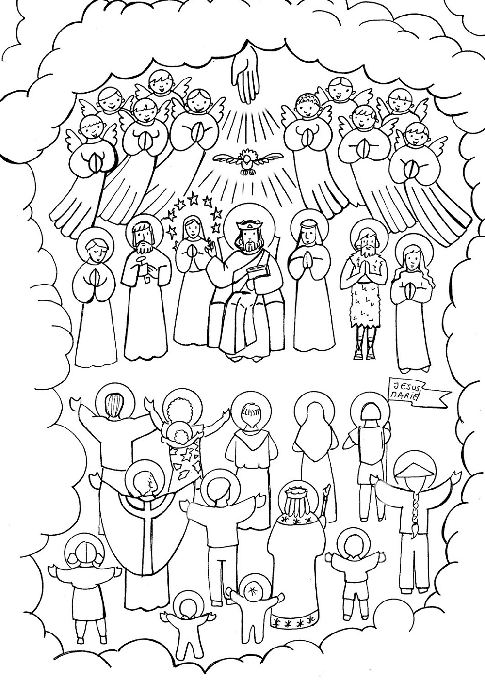 All Saints Day Coloring Pages Catholic Saints