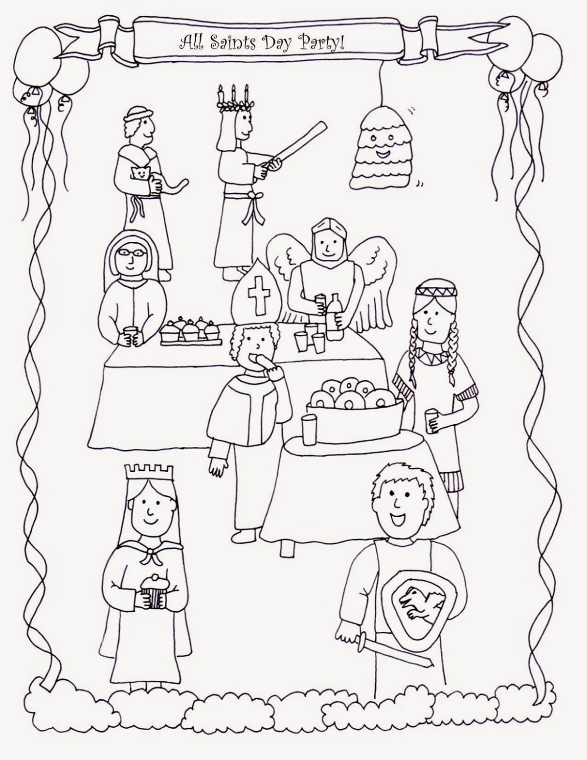 All Saints Day Coloring Pages For Kids
