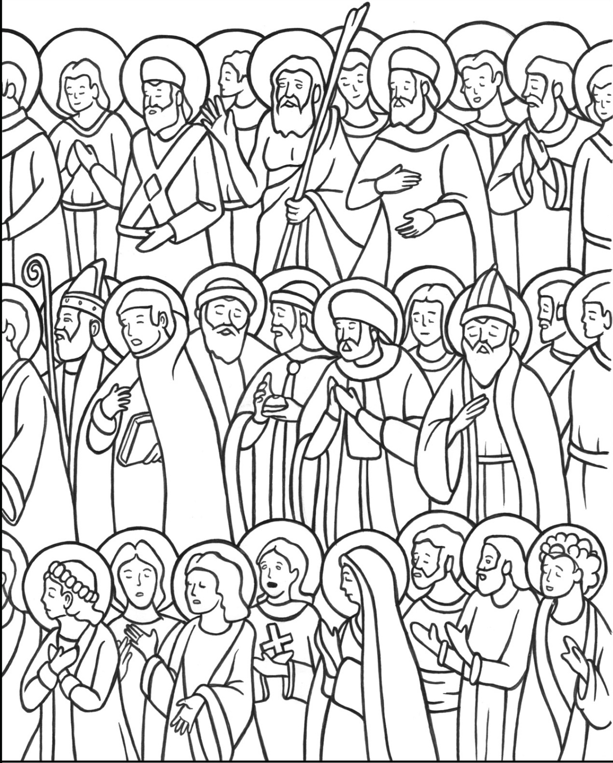 All Saints Day Coloring Pages Free