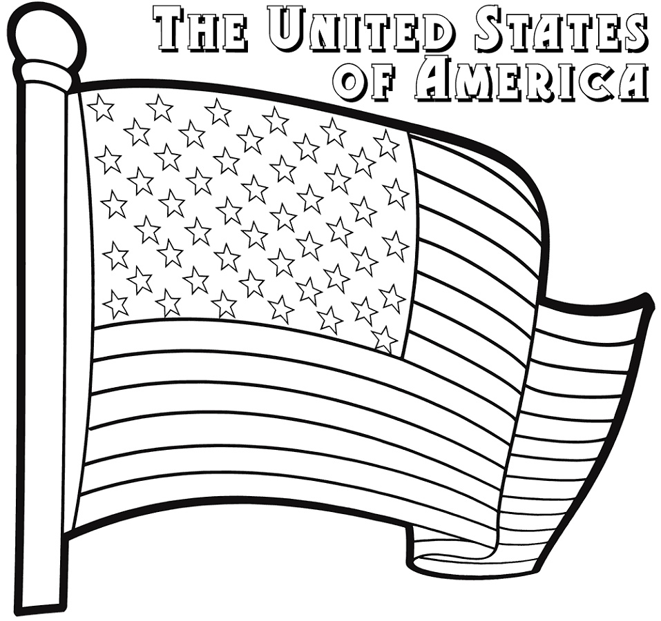 American Flag Coloring Page Free