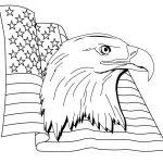 American Flag Coloring Page Patriotic
