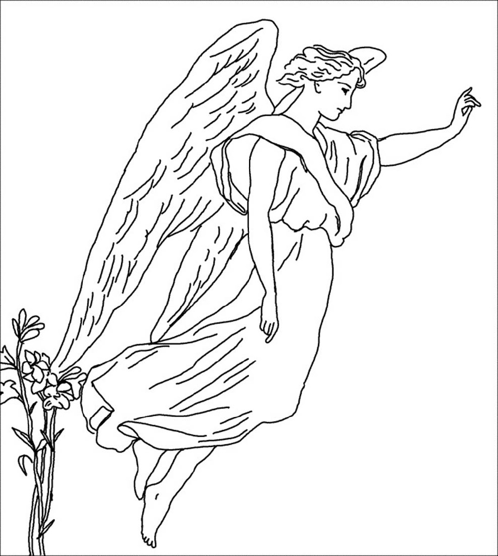 Angel Coloring Pages Free
