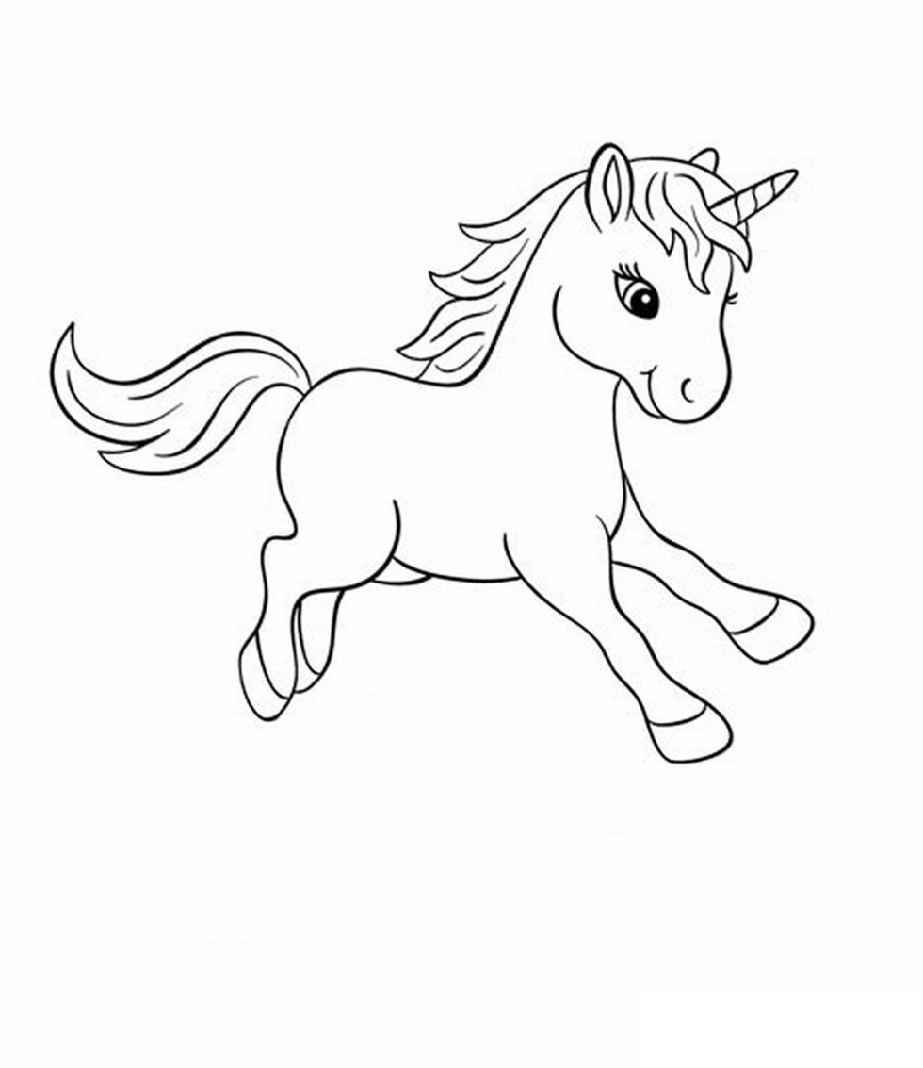 Baby Unicorn Coloring Pages Free
