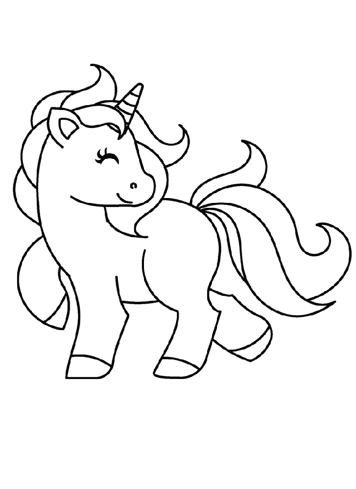 Baby Unicorn Coloring Pages To Print