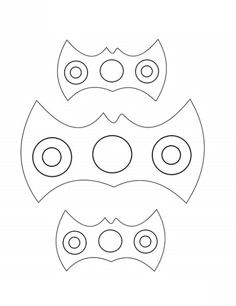 Bat Fidget Spinner Coloring Pages