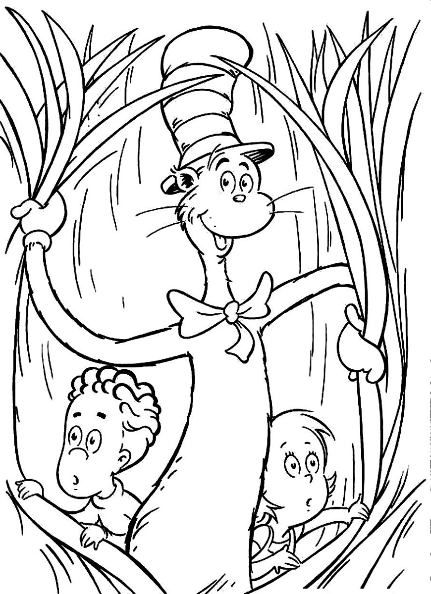 Cat In The Hat Coloring Pages Printable