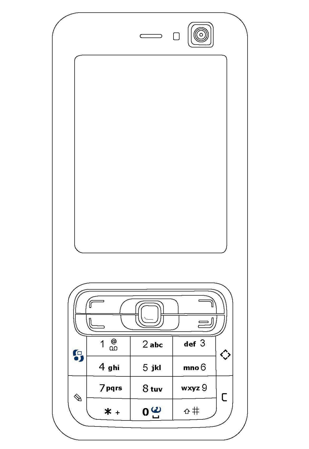 Cell Phone Coloring Page Online