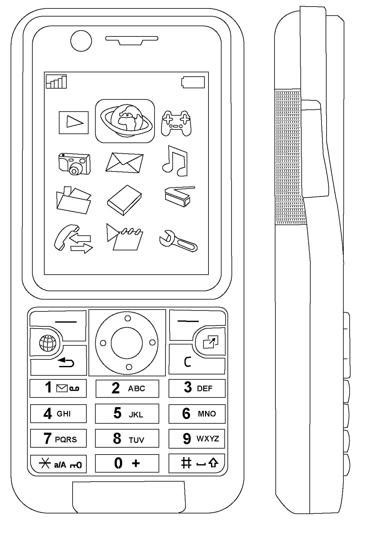 Cell Phone Coloring Page To Print