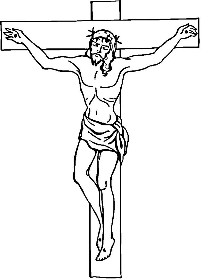 Christian Coloring Pages Cross