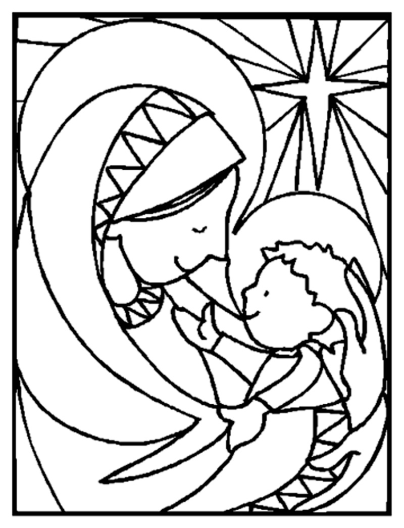 Christian Coloring Pages Religious