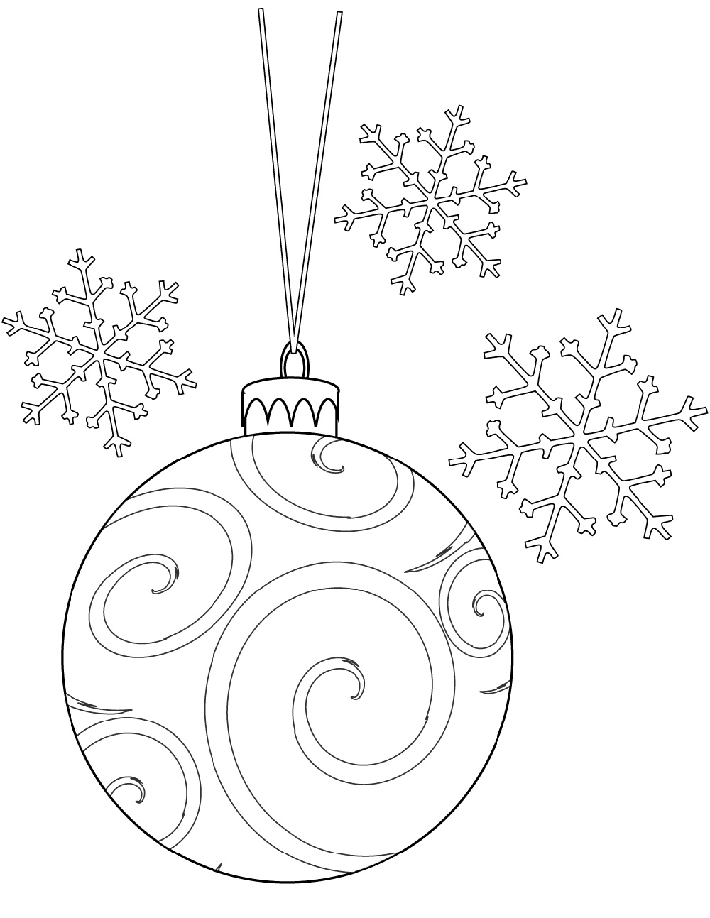Christmas Ornament Coloring Pages Bulb