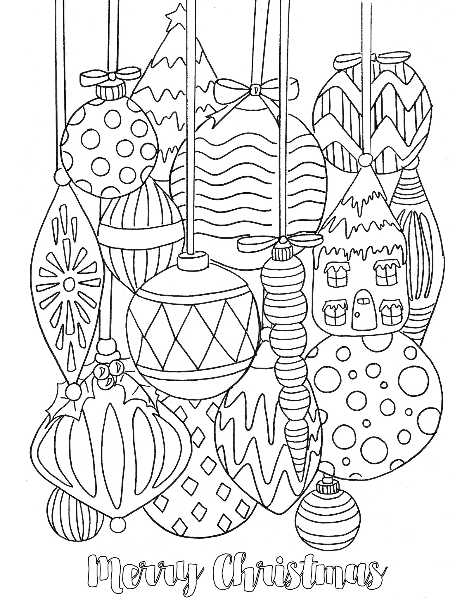 Christmas Ornament Coloring Pages Pictures