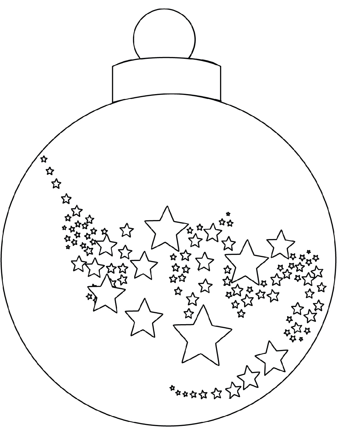 Christmas Ornament Coloring Pages Santa
