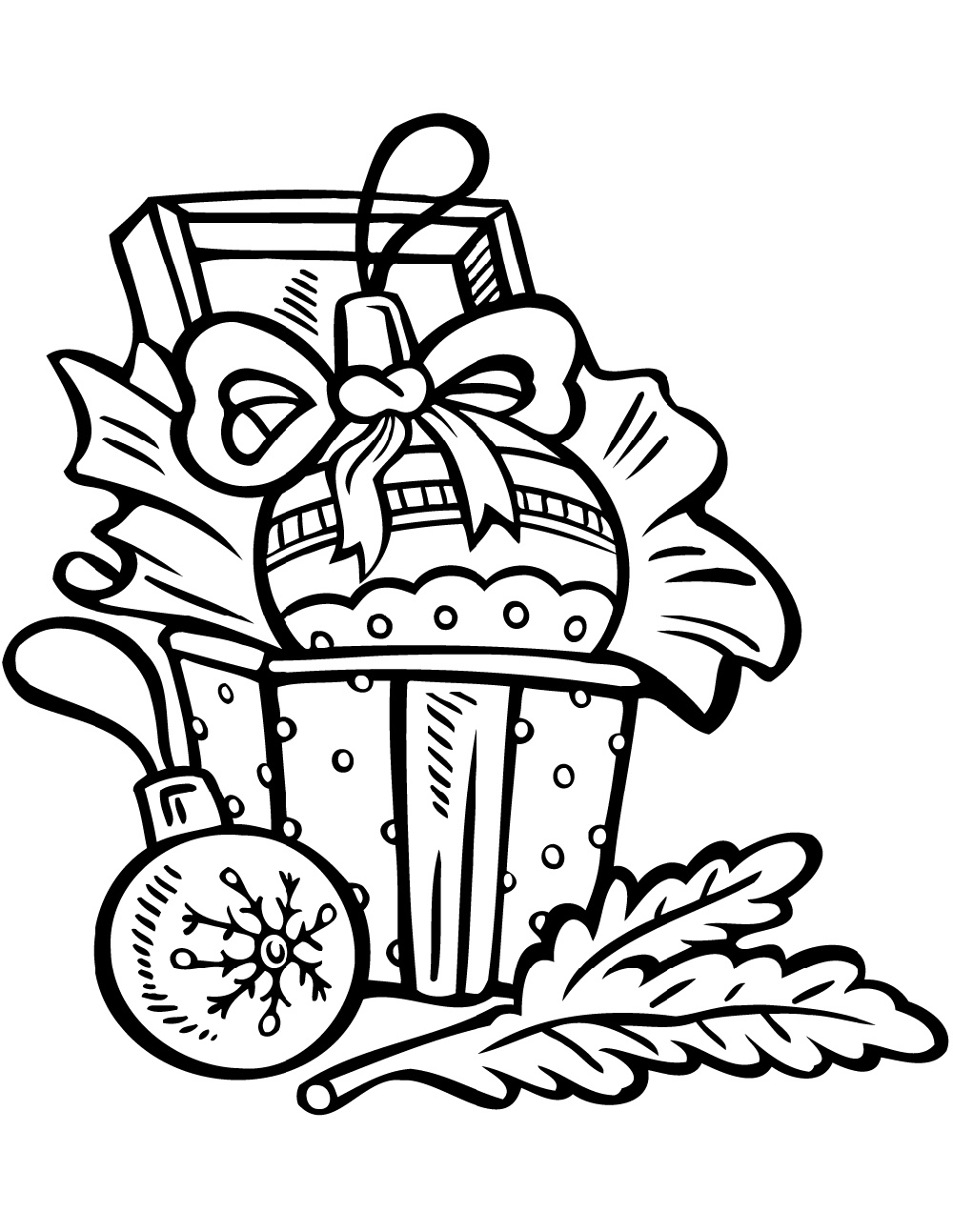 Christmas Ornament Coloring Pages To Print