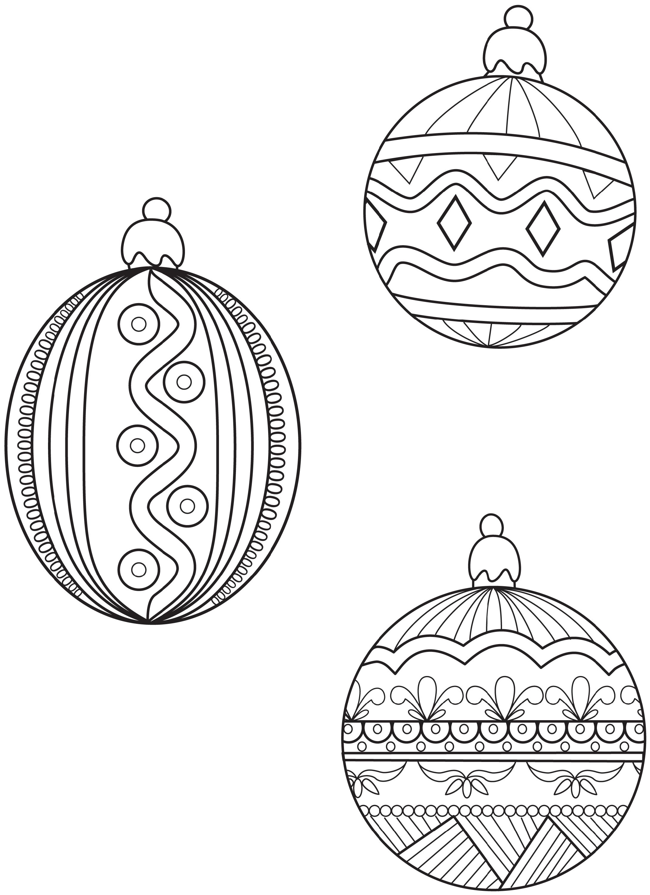 Christmas Ornament Coloring Pages Zentangle