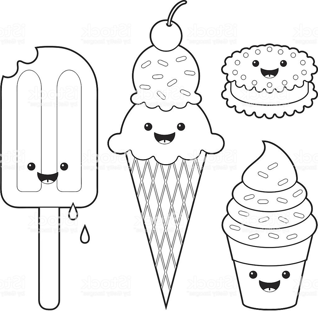 Cute-Food-Coloring-Pages-Ice-Cream
