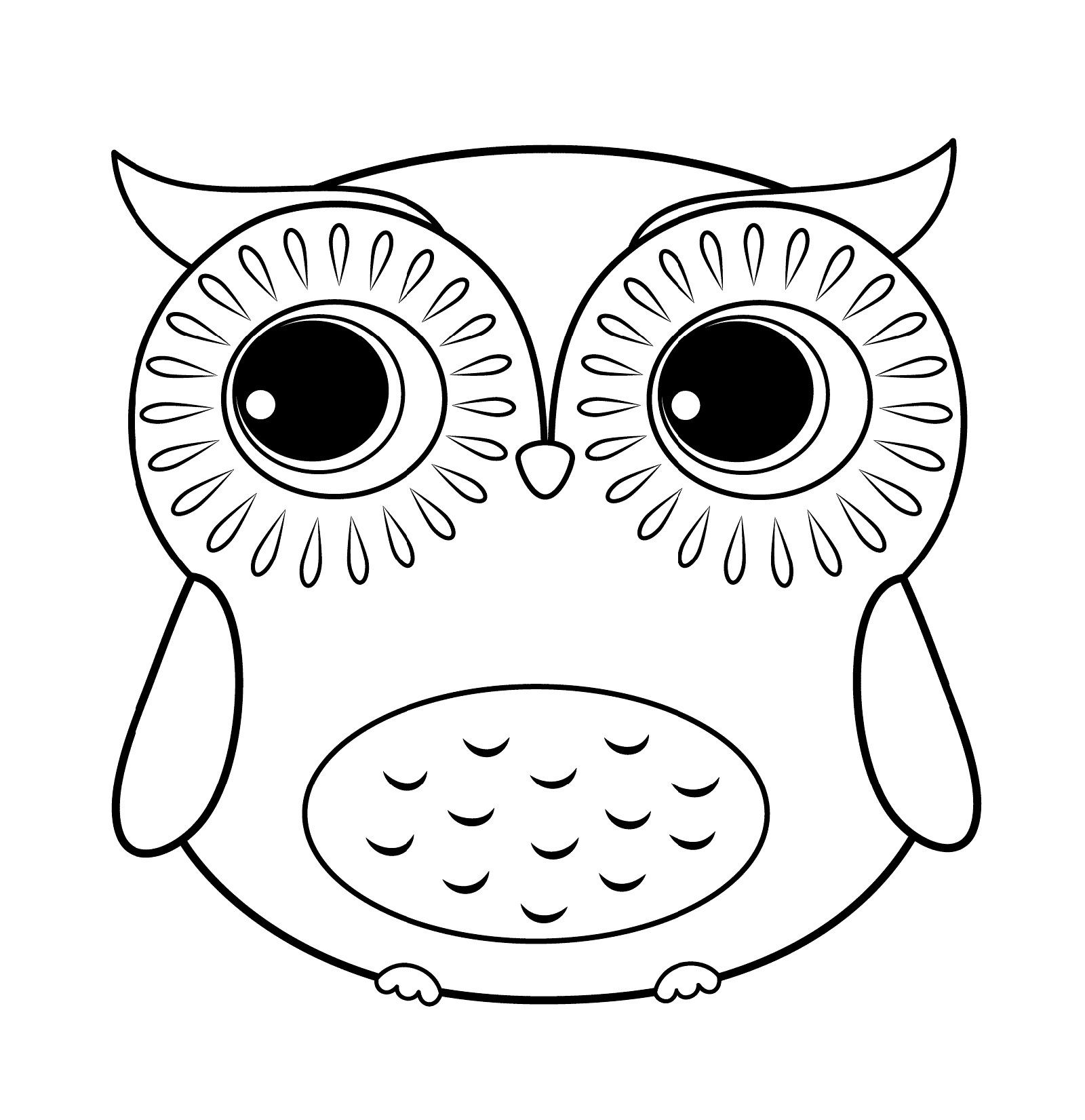 Cute Owl Coloring Pages Baby