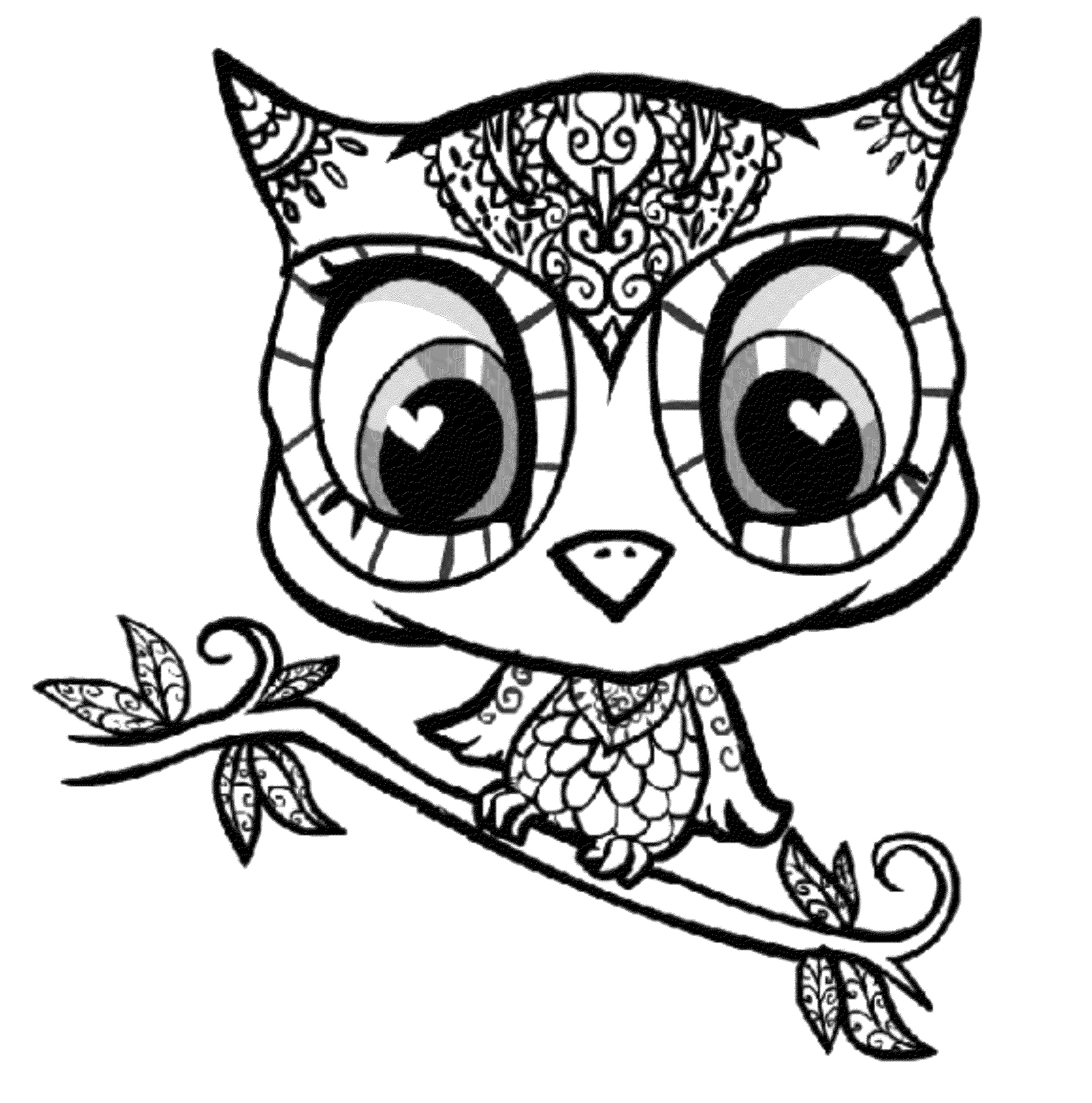 Cute Owl Coloring Pages Free