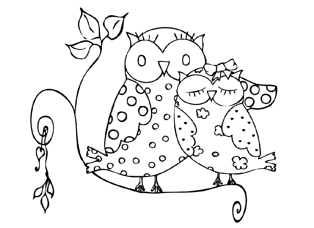 Cute Owl Coloring Pages Printable