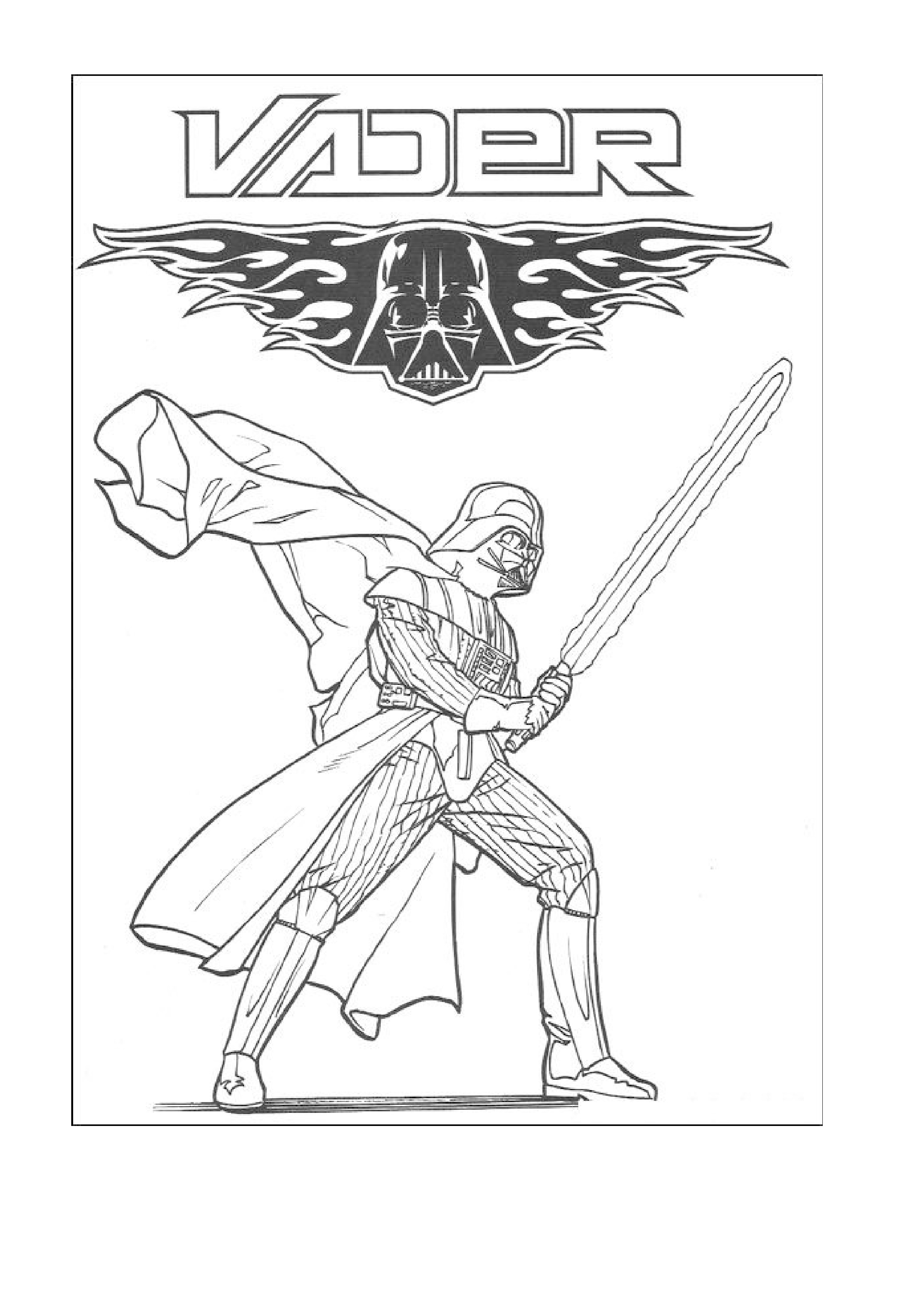 Darth Vader Coloring Pages Star Wars