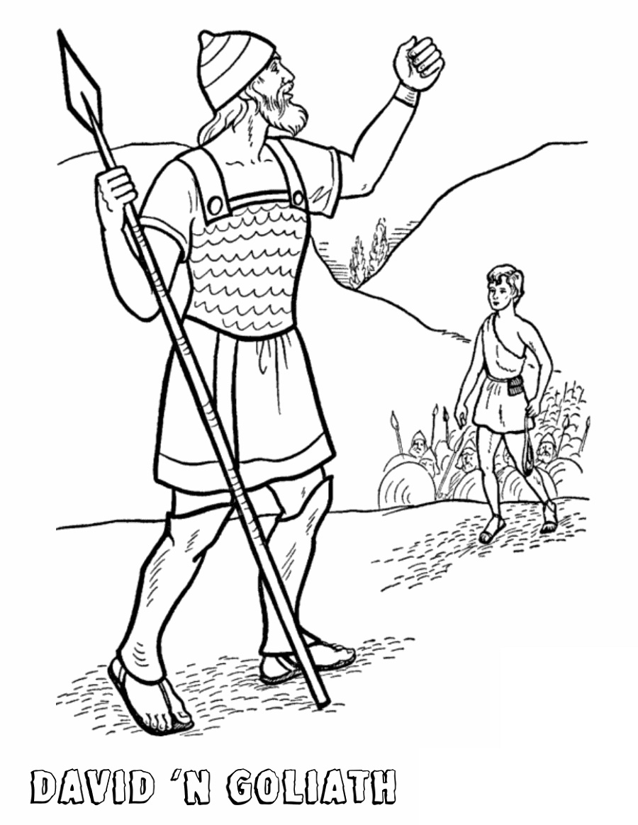 David And Goliath Coloring Page Free