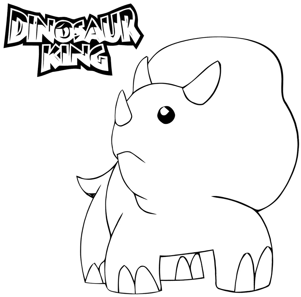 Dinosaur King Coloring Pages Free